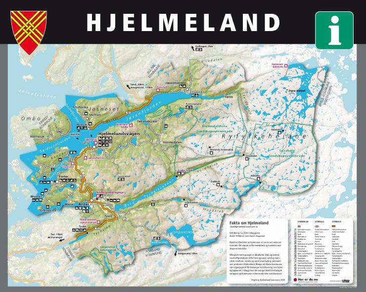 hjelmeland kommune kart eMap   informasjonstavler