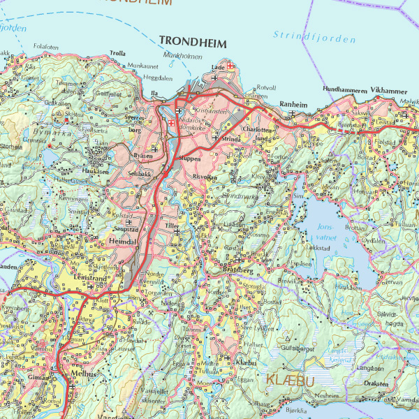 topografisk kart trondheim eMap   N250 topografisk kart trondheim