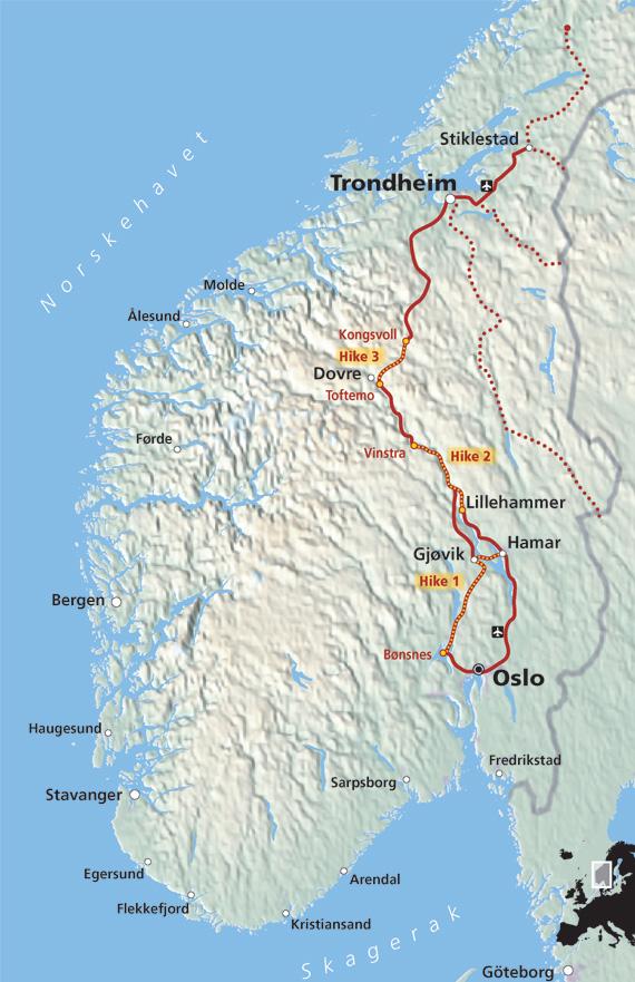 pilegrimsleden kart eMap   Internett og skjerm pilegrimsleden kart